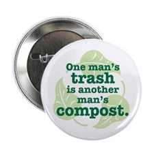 "One Man's Trash 2.25"" Button"
