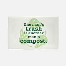 One Man's Trash Rectangle Magnet (10 pack)