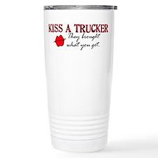 Kiss a Trucker Travel Mug