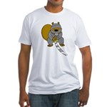 Ninja Beaver Fitted T-Shirt