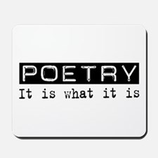 Poetry Is Mousepad