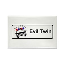 Evil Twin Hijacks Cop Car Rectangle Magnet