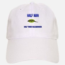 Half Man Half Tiger Salamander Baseball Baseball Cap