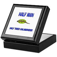Half Man Half Tiger Salamander Keepsake Box