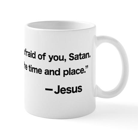 Challenge to Satan Mug
