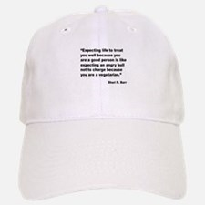 Life Expectations Quote Baseball Baseball Cap