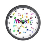 Music note clock Wall Clocks