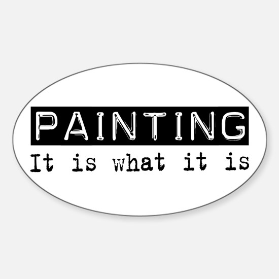Painting Is Oval Decal
