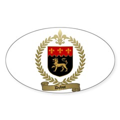 DUBUC Family Crest Oval Decal