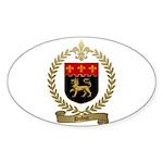 DUBUC Family Crest Oval Sticker