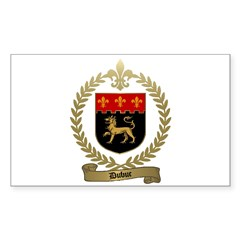 DUBUC Family Crest Rectangle Decal