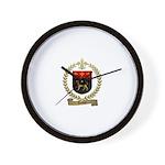 DUBUC Family Crest Wall Clock