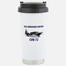 USS ABRAHAM LINCOLN Stainless Steel Travel Mug