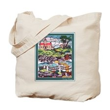 Lighthouse Mural Tote Bag