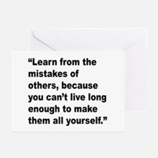 Learn from Mistakes Quote Greeting Cards (Pk of 10