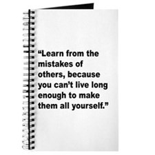 Learn from Mistakes Quote Journal