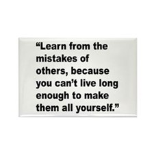 Learn from Mistakes Quote Rectangle Magnet (10 pac