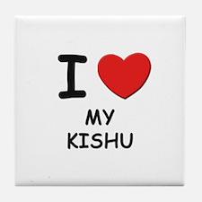 I love MY KISHU Tile Coaster