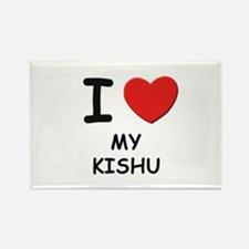 I love MY KISHU Rectangle Magnet