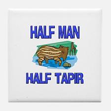 Half Man Half Tapir Tile Coaster
