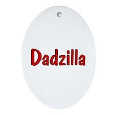 Dadzilla (Red) Oval Ornament
