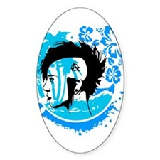Punk Wave Oval Decal