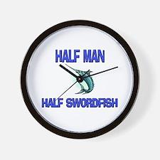 Half Man Half Swordfish Wall Clock