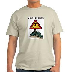 Moose Crossing Ash Grey T-Shirt