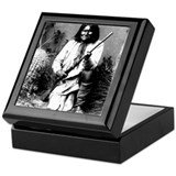 Cherokee indian design Square Keepsake Boxes