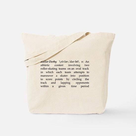 Roller Derby Defined Tote Bag