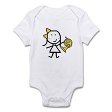 Girl & French Horn Infant Bodysuit