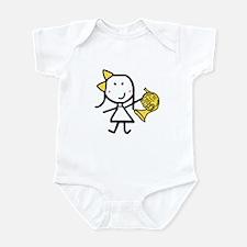 Girl & French Horn Infant Bodysuit