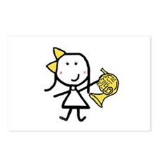 Girl & French Horn Postcards (Package of 8)