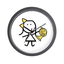 Girl & French Horn Wall Clock