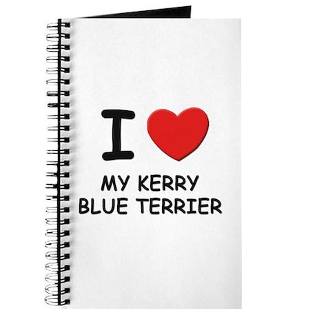 I love MY KERRY BLUE TERRIER Journal