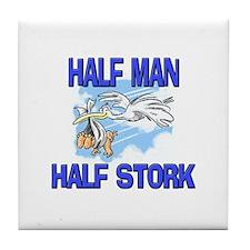 Half Man Half Stork Tile Coaster