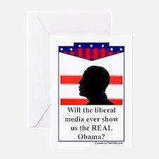 """The Liberal Media"" Greeting Card"