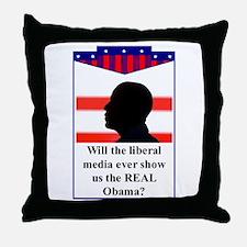 """The Liberal Media"" Throw Pillow"