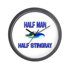 Half Man Half Stingray Wall Clock