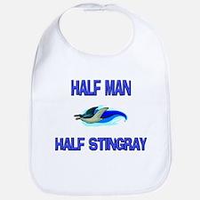 Half Man Half Stingray Bib