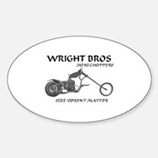 WRIGHT BROS Oval Decal
