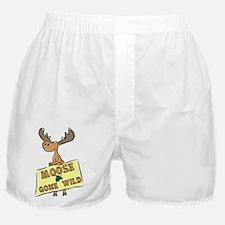 Moose Gone Wild Boxer Shorts