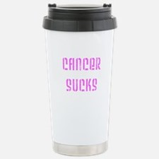 Cancer Sucks (pink) Travel Mug