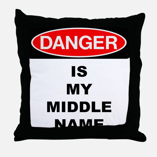 Cute Danger Throw Pillow