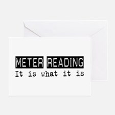 Meter Reading Is Greeting Card