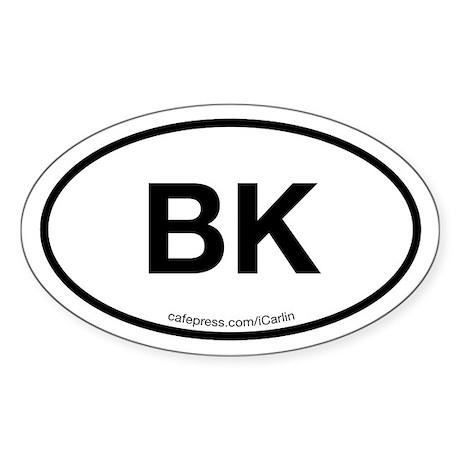 Brooklyn Acronym Oval Sticker