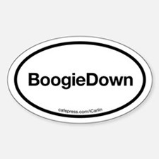 The Boogie Down Oval Decal