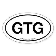 GTG Oval Decal