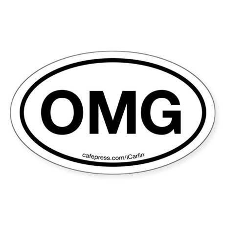 OMG Oval Sticker