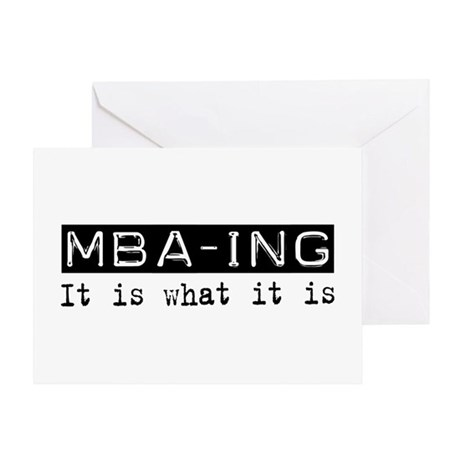 MBA-ing Is Greeting Card